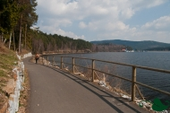 Cycle path at Lipno