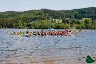 Dragon boats in Lipno